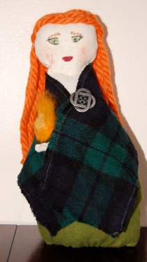 A Brighid doll made and photographed by Grey Catsidhe, 2014.